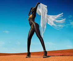 Model Nyakim Gatwech celebrates black beauty