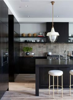Beautiful backsplash with contemporary cabinets