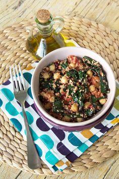 Cinco Quartos de Laranja: Salada quente de acelgas