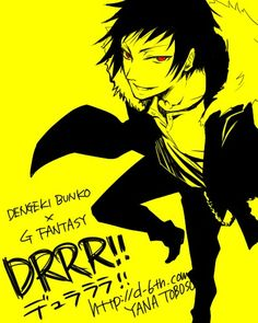 Izaya from Durarara!! Drawn by Yana Toboso