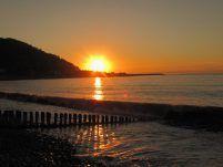 Sunset over Porlock Beach - Photo by Kelly Creech