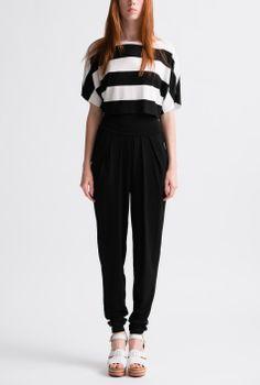 Black and White Mod Stripe Box Top