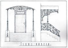 House Canopy, Sky Garden, Art Nouveau Design, Fence Gate, Iron Decor, Wrought Iron, Curb Appeal, Exterior Design, Art Sketches