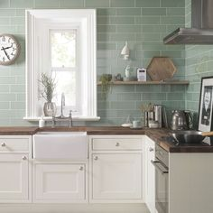 porcelain flooring Ceramic and porcelain floors are top trending flooring options in Kitchen Tiles, New Kitchen, Kitchen Decor, Kitchen Sink, White Tile Kitchen, 1970s Kitchen, Ranch Kitchen, Narrow Kitchen, Design Kitchen