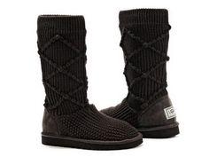Ugg 5879 Classic Argyle Knit Boots Chocolate UK  $120