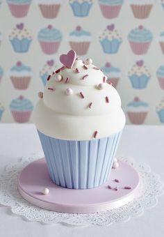 Gorgeous Giant Cupcake Birthday Cake by Zoe Clark Cakes
