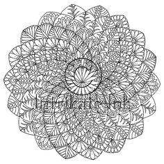 Mandala Colouring Page 39 - Instant Download, illustration, Printable Mandala, Meditation, Peace, Jo Mandala Tattoo Design, Mandala Drawing, Mandala Painting, Dot Painting, Mandala Art, Mandala Coloring Pages, Free Coloring Pages, Large Prints, Illustration