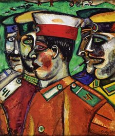 Soldiers, 1912, Marc Chagall