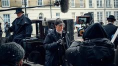 SHERLOCK (BBC/PBS) ~ Benedict Cumberbatch (Sherlock Holmes) behind the scenes during the filming of the pre-Season 4 special, SHERLOCK: THE ABOMINABLE BRIDE, which premieres January 1, 2016 on BBC & PBS. [Click for photo gallery]