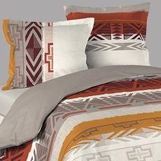 Housse de couette ethnique inca 2 taies d oreillers - Housse de couette style indien ...