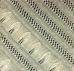 Free+Knitting+Pattern+-+Afghans+&+Blankets:+Leaf+Bedspread