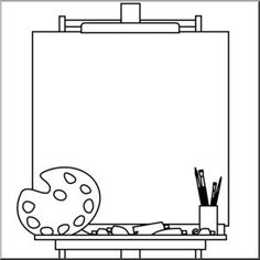 Easel and blank canvas. would be a cute cover for an art folder. You can fill it with how to draw different things &/or the coloring pages of famous works of art. Art Handouts, Art Worksheets, Art Folder, Art Party, Elements Of Art, Art Classroom, Art Plastique, Colouring Pages, Teaching Art