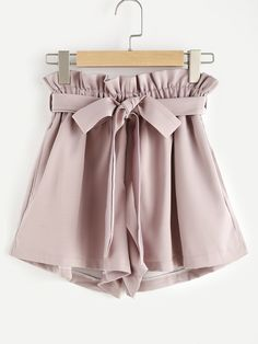 Shop Frill Waist Self Tie Shorts online. SheIn offers Frill Waist Self Tie Shorts & more to fit your fashionable needs. Tie Shorts, Frill Shorts, Dressy Shorts, Khaki Shorts, Jean Shorts, Latest Fashion For Women, Teen Fashion, Korean Fashion, Teen Clothing