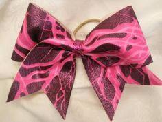 pink electric cheer bow~etsy