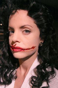 "gorgeous Mena Suvari as ""The Black Dahlia"" for American Horror Story amazing special fx makeup"