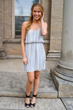 ROMANTIC DATE GREY DRESS