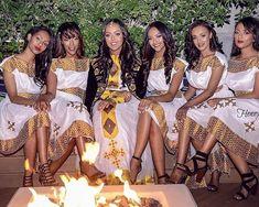 Ethiopian Wedding Dress, Ethiopian Dress, Ethiopian Traditional Dress, Traditional Dresses, African Women, African Fashion, Ethiopian People, Habesha Kemis, Brown Girl