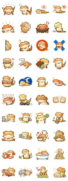 Beardie and reptile - LINE Creators' Stickers
