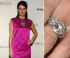 Pin for Later: The Very Best Celebrity Engagement Rings Angie Harmon