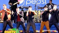 The Backstreet Boys performing hit I Want It That Way On GMA