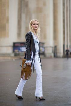 Good seeing some bootleg cuts baaaaack,ANY left in your CLOSET? Better Go get'em! #Gucci pants~HarpersBAZAAR.com