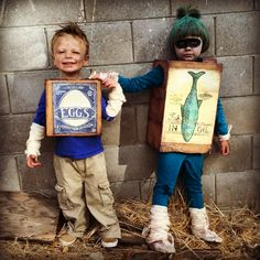 BoxTrolls! Eggs and Fish Halloween costumes. #Boxtrolls #costume #fish #eggs #Halloween