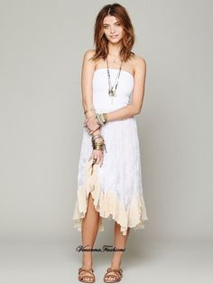 Free People Intimately White Lace Convertible Slip size X-Small! NWOT!