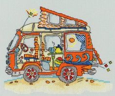 Sew Dinky VW Van Cross Stitch Kit £17.45 | Past Impressions | Bothy Threads