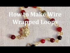 Easy Wire Wrapped Loops - great video tutorial on how to make wrapped loops to improve your jewelry making skills. Jewelry Making Tutorials, Beading Tutorials, Wire Jewelry, Jewelery, Flat Nose, Pli, Wire Work, Wire Wrapping, Beads