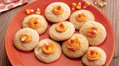 Melting Candy Corn Cookies Halloween Cookie Recipes, Halloween Cookies Decorated, Halloween Treats, Holiday Recipes, Halloween Foods, Holloween Cookies, Halloween Baking, Fall Treats, Easy Halloween