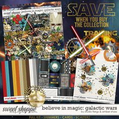 Believe in Magic: Galactic Wars Collection Amber Shaw & Studio Flergs   http://www.sweetshoppedesigns.com/sweetshoppe/product.php?productid=38546&cat=985&page=1