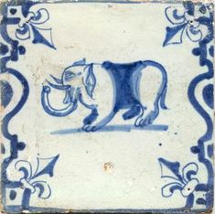 goudsetegels1 Dutch tile, 17th century