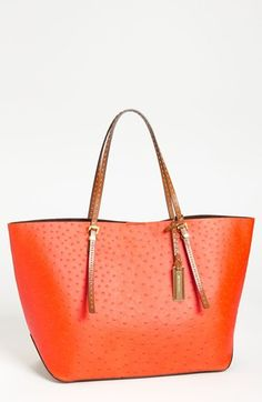 2462b8ba44 Michael Kors  Gia  Ostrich Embossed Leather Tote