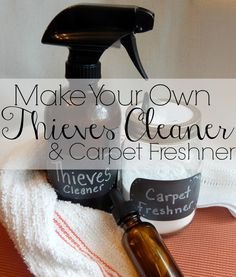 DIY Thieves Cleaner and Carpet Refresher