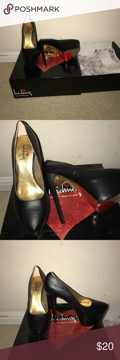 Luichiny Heart Black Pump A girl best friends beside diamonds are PUMPS. And surely enough this black pumps good for a date night or a GNO. Never been use still in the original box! Luichiny Shoes Heels