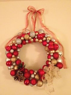 Ornament Wreath For Christmas- Completed!