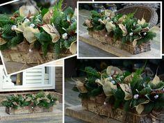 """Kerstcake met verlichting """"Bij Aafke"""" www.bloemworkshops.nl"""