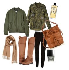 """""""Khaki&Camel"""" by grizabella on Polyvore featuring moda, WithChic, River Island, Frye, Calvin Klein, Nordstrom, Nadia Minkoff, Serge Lutens i Sloane"""