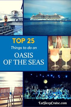 Top 25 Things to Do on Oasis of the Seas. The world's largest class of cruise ship offers cruisers plenty to do. See our top picks for onboard fun. Cruise Tips, Cruise Travel, Cruise Vacation, Vacation Ideas, Family Cruise, Italy Vacation, Honeymoon Cruise, Shopping Travel, Vacation Places