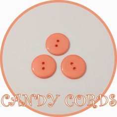 15 Large PEACH CORAL 22mm Round Buttons BUY 3 GET 1 FREE Sewing Knitting Acrylic