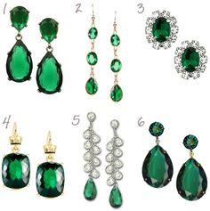 Emerald Green Earrings, Wedding Jewelry
