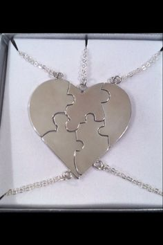 Best Friend Puzzle Necklace Sterling by CopperfoxGemsJewelry $62.45
