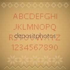 Baixar - Textura de fundo do bordado. Alfabeto Inglês com números. Ve — Ilustração de Stock #93540156