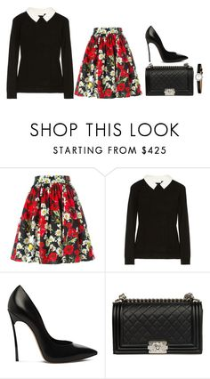 """Untitled #34"" by minimalsimplicity ❤ liked on Polyvore featuring Dolce&Gabbana, Milly, Casadei and Chanel"