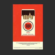Mad Men Party Poster - by Olly Moss: minimal, clever and appropriate! #madmen #design #advertising