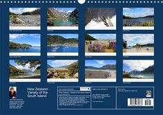 New Zealand – Variety of the South Island, Calendar Sheet: Index