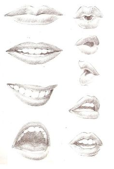 I consider it really helpful when I am doing my sketchs. I want to emphasizes more the part of the lips since I will put the color of the lipstick right there. Mouth Drawing, Human Drawing, Life Drawing, Figure Drawing, Drawing Techniques, Drawing Tips, Painting & Drawing, Anatomy Drawing, Amazing Drawings
