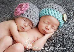 Newborn Twin Hats  Photography Prop  Boy by BeautifulEweDesigns, $32.00