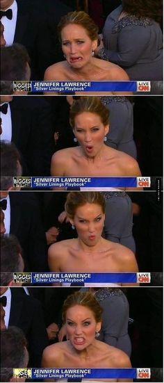 A real actress...