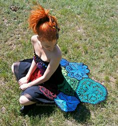 Granny Mosaic SUNbrella And Upcycled Crochet Doily Dress by babukatorium, via Flickr